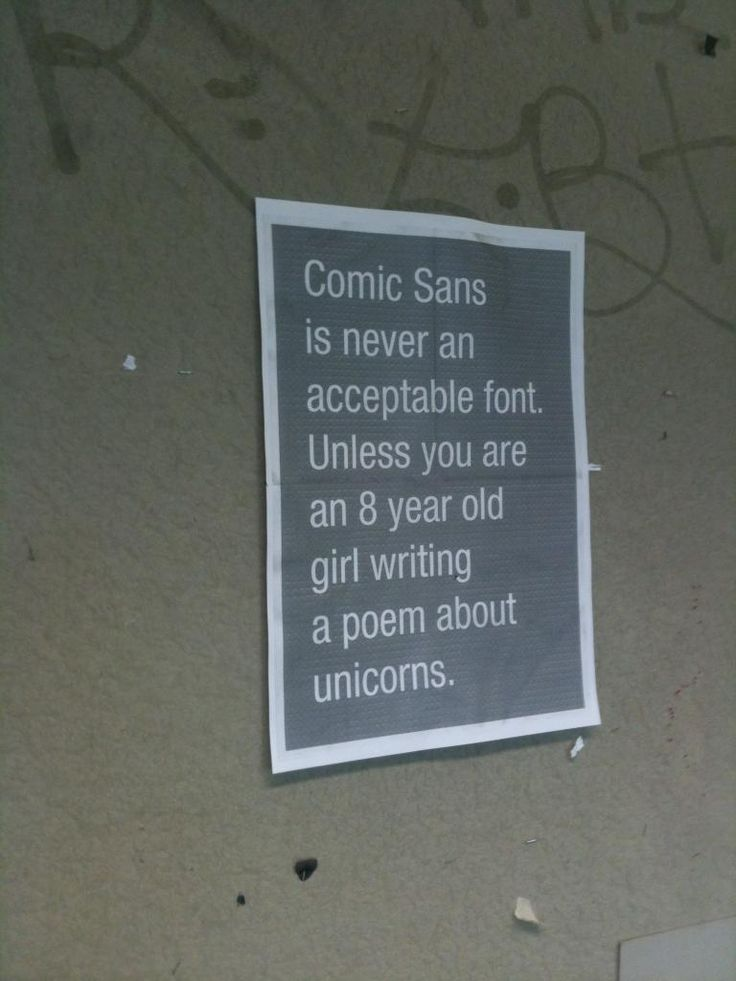 Comic Sans... for unicorns and stuff