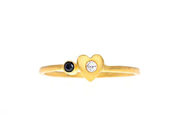 Opposites Attracts goldplated Ring - HeidisHoff.no