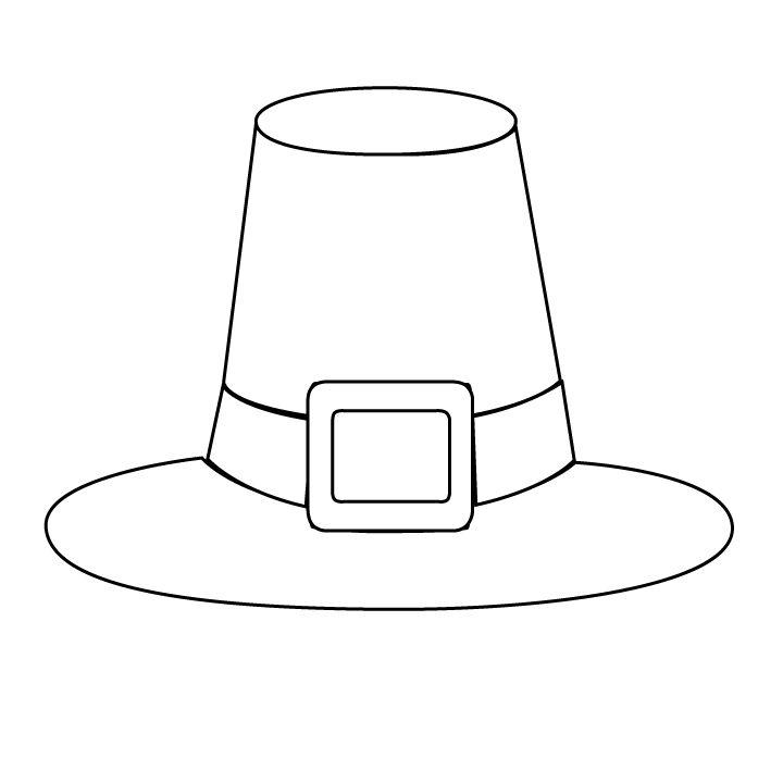 Картинка для раскраски шляпа