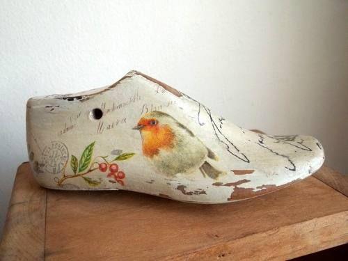 Antigua Horma Para Zapato Infantil De Madera Decorada - en MercadoLibre