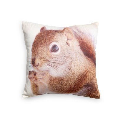 Perfect Squirrel Pillow // H M Home