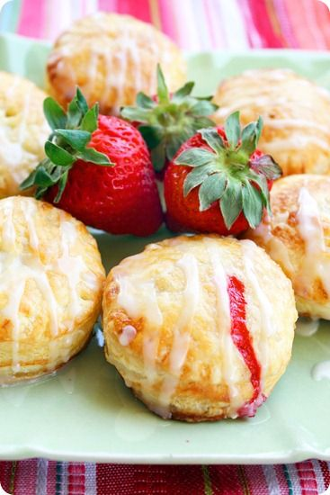 Strawberry Filled Pastry Donut with Lemon Glaze