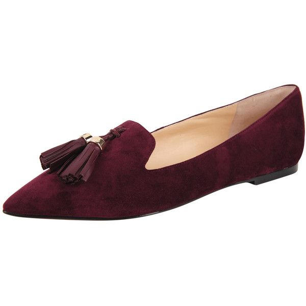 Ivanka Trump Lama (3 100 UAH) ❤ liked on Polyvore featuring shoes, burgundy suede, flat pointy toe shoes, pointed toe shoes, ivanka trump footwear, flat shoes and flat pointed-toe shoes