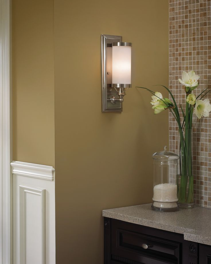 lighting ideas for bathrooms. Bridgeport Wall By Tech Lighting. #lighting #wallsconce #bathroomwall # Bathroom #bathroomlighting Lighting Ideas For Bathrooms T