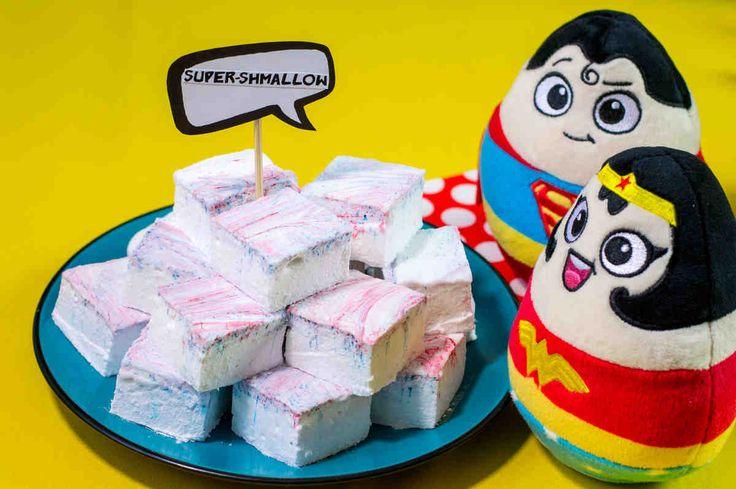 Supershmallow czyli domowe marshmallow. #marshmallow #deser #słodkie #słodkości #mniam #superbohater #party #smacznastrona #tesco #przepisy #tescoparty