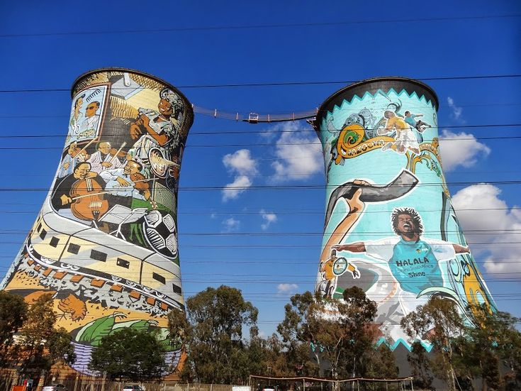 Cooling towers from which you can bungee jump in Johannesburg