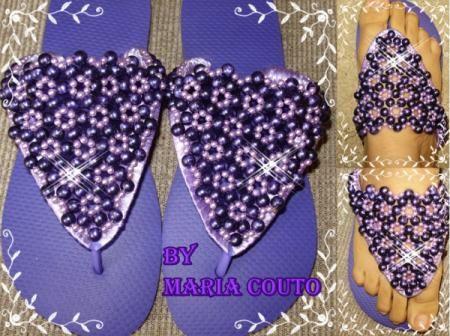 chinelos bordados com pedrarias e personalizados com fotos chinelos bordados chinelos havaianas,chinelos bordados feitos a mão
