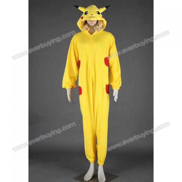 cute hooded color block pikachu halloween cosplay costume for women - Pikachu Halloween Costume Women