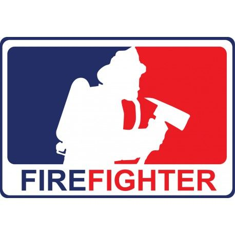 Reflective Major League Firefighter decals contour cut from high quality engineer grade vinyl.