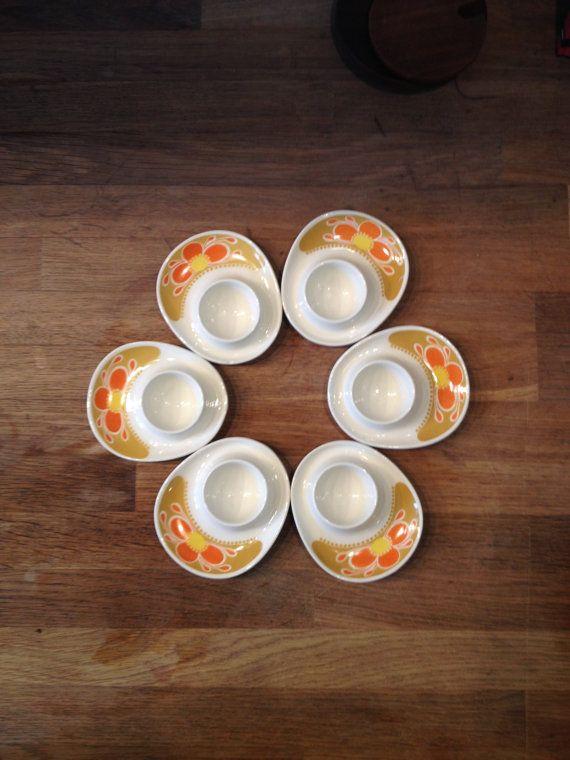 6 FIGGJO FLINT NORWAY Safran Egg Cups designed by SCANDIANDERSEN