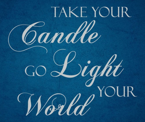 Go Light Your World #kathytroccolli Wall Decal:
