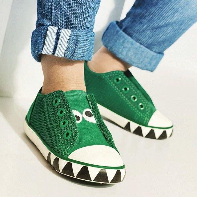 Tiny but ferocious feet! #tuesdayshoesday #shoes #cute #trainers #kids #kidsfashion
