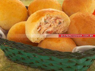Receita de Pão de batata com frango e catupiry