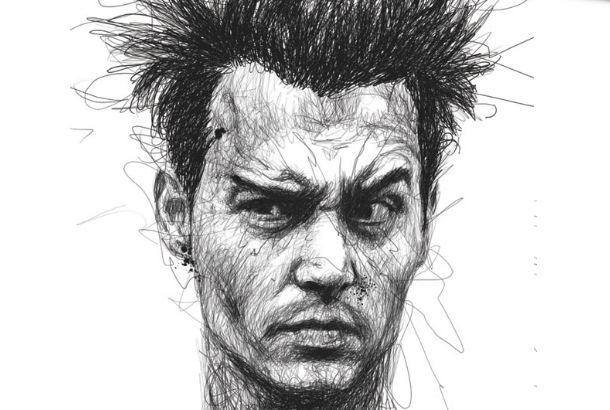 何百もの走り書きで描かれた、リアルなポートレート作品集「Faces」 | roomie(ルーミー)