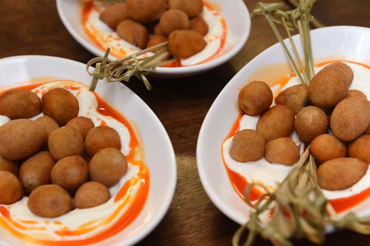 Fried olives in spiced Labane - Ethnic foods at Balaboosta