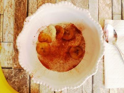 Chia kaša s pečenými a varenými banánmi