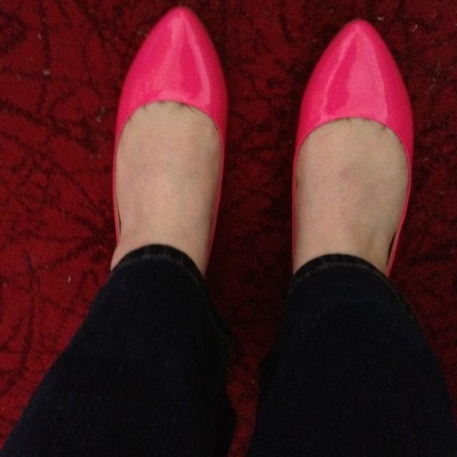 My Aldo Neon Pink Ballet Flats
