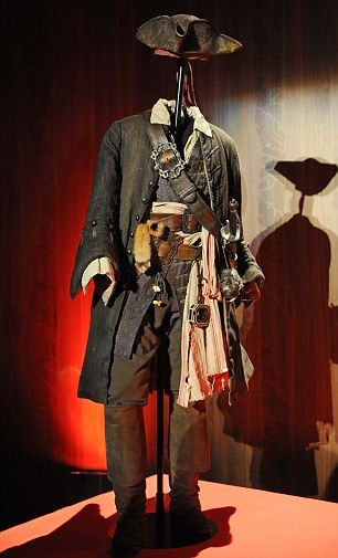 Costume design by Penny Rose for Jack Sparrow (Johnny Depp) in Pirates of the Caribbean I love this and would totally wear it.