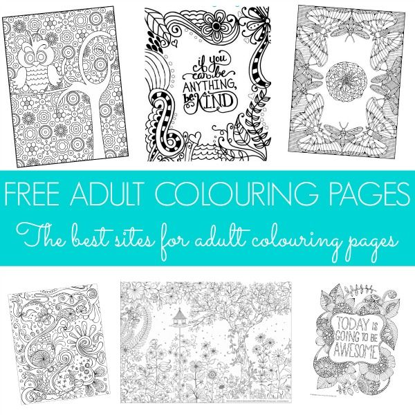 Free Adult Colouring Pages | The Best Sites for Adult Colouring Pages.... Mandalas, Owls, Designs, Zen, Peaceful, Printables!