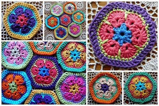 http://lindevrouwsweb.blogspot.com/2010_12_19_archive.html: Crochet Blankets, Crochet Colour, Africans Violets, Crochet Granny Squares, Crochet Africans Flower, Crochet Flower, Bright Color, Color Crochet, Beautiful Crochet