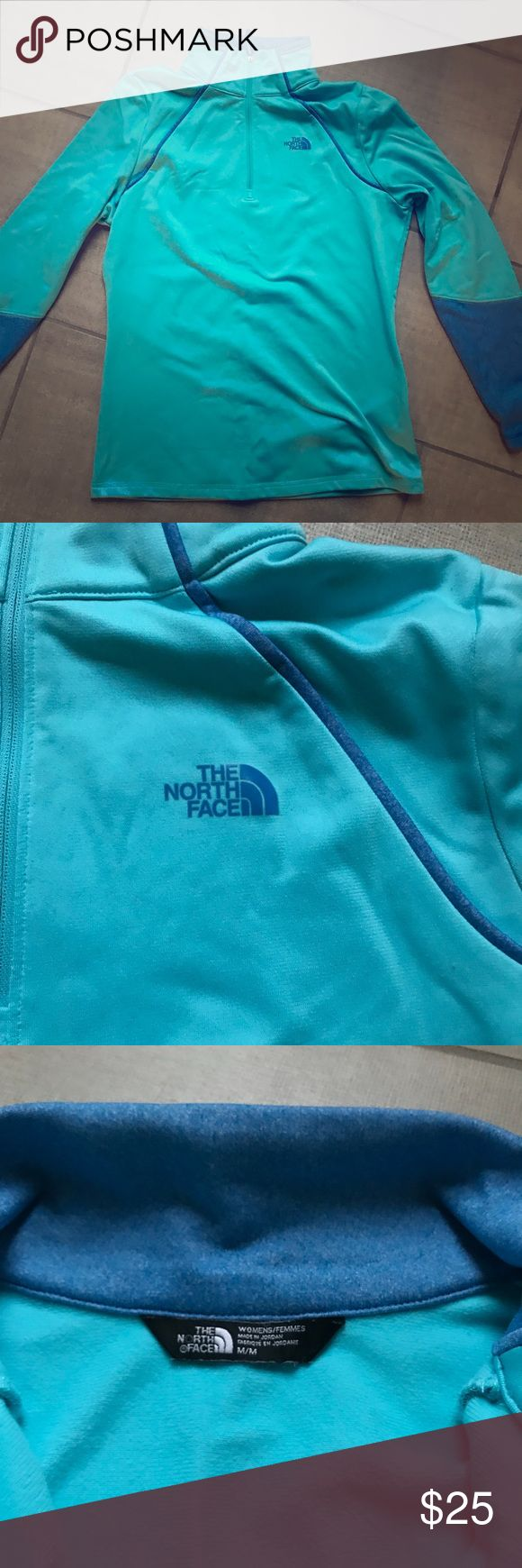 The North Face 1/4 ZIP Gently worn 1/4 zip The North Face. Purchased from The North Face Outlet store so it does not have the logo on the back. Size Medium. Fits slightly smaller. No stains or rips. Fleece lined inside. Perfect for winter! The North Face Tops Sweatshirts & Hoodies