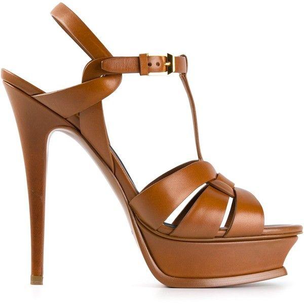 SAINT LAURENT 'Classic Tribute 105' sandals found on Polyvore