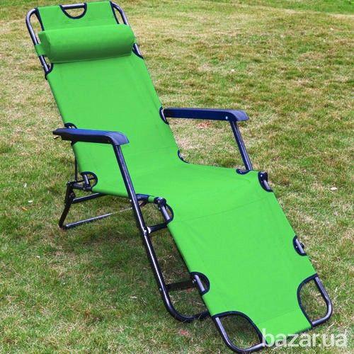 Складное кресло-шезлонг. Удобный и компактный шезлонг для отдыха на даче, возле бассейна или пляжа. Весит шезлонг - 5 кг. Раскладывается в течении...