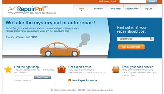 RepairPal: Get Car Repair Estimates and Service Shops in your Area