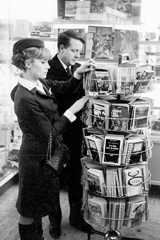 """Jean Desailly, Françoise Dorléac in """"La peau douce"""" (1964). Country: France. Director: François Truffaut."""