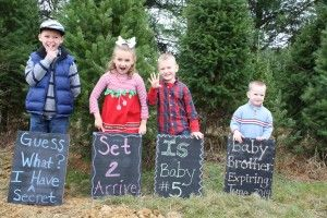 Pregnancy Announcement with multiple siblings.