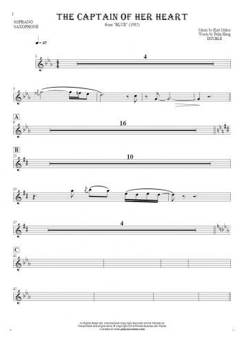 Notes for soprano saxophone - saxophone part