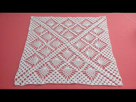 Cómo Tejer un Mantel Cuadrado / Tutorial | Crochet y Dos agujas - Patrones de tejido