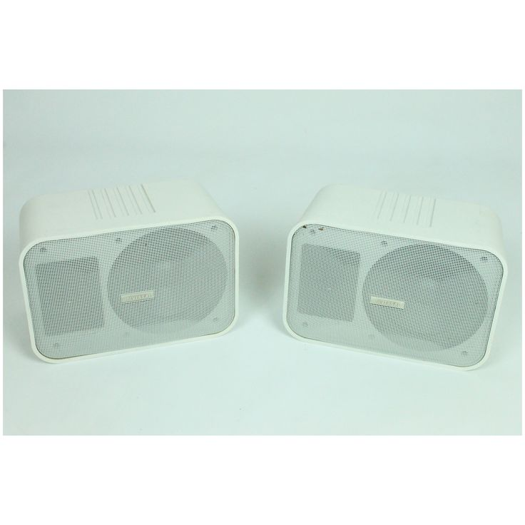Universal SP-1828 2-Way Dual Impedance White Indoor/Auto Stereo Speakers