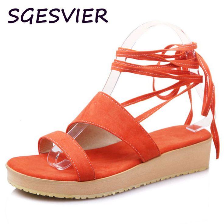 SGESVIER Women sandals women Summer shoes peep-toe flat Shoes Roman sandals mujer sandalias Ladies Flip Flops Sandal Ethnic 1964