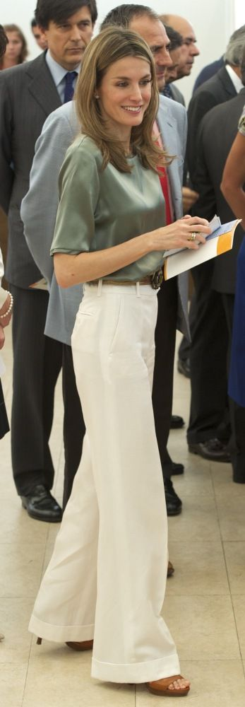 Spain's New Queen Letizia Stuns In Ivory As King Felipe VI Takes Over