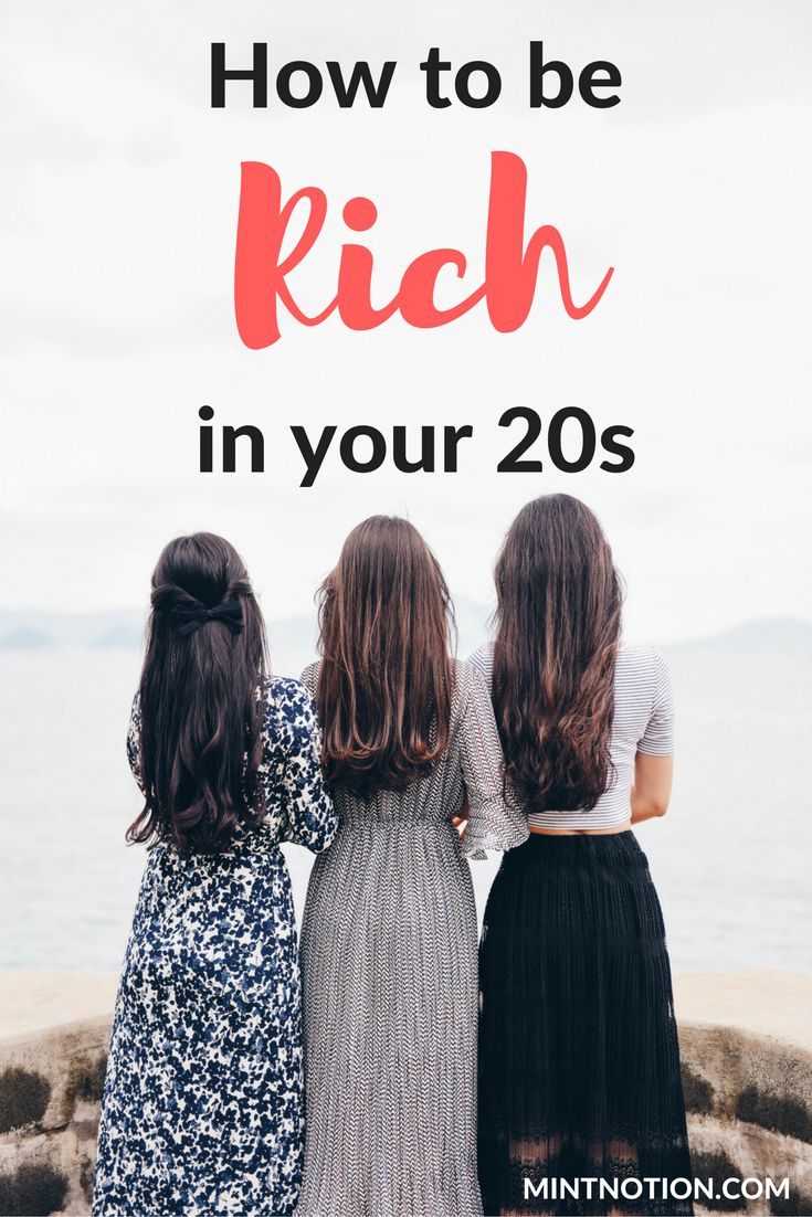 Managing your finances can be a little overwhelming, especially when you're young. However, the sooner your start making a financial plan for yourself, the more time you have to create a bright future. The smart money habits you make now can contribute to your long-term success. Click through to find out how to be rich in your 20s.
