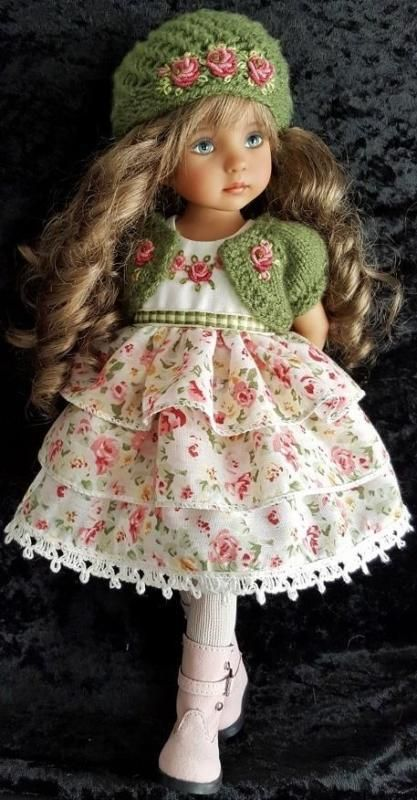 "DRESS,SWEATER&BOOTS SET MADE FOR EFFNER LITTLE DARLING,MY MEADOW&MARU 13"" DOLLS"
