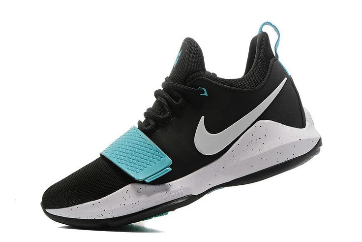 2017-2018 Newest And Cheapest Nike PG 1 One Paul George Shoes Light Aqua Blue Black Hyper Jade