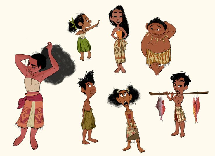 After animation wrapped on Big Hero, I had the opportunity to help out with design on Moana. One of my assignments was to design the village kids from her island of Motunui.  I hoped to bring a sense of authenticity to how they looked, and to make them real for me I thought a lot about watching my little cousins grow up back in the Philippines=)Thankful for them!