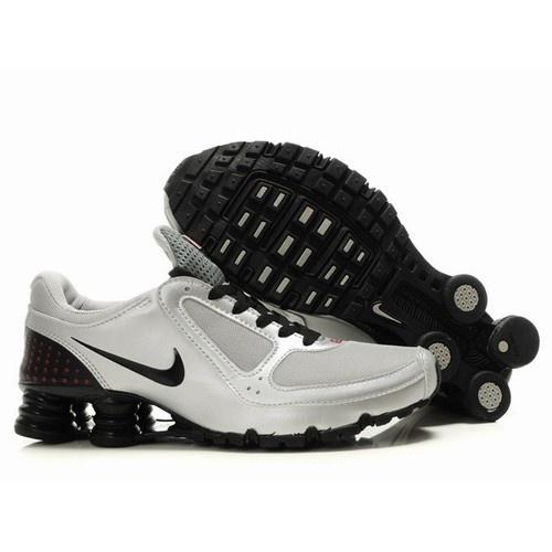 Nike Shox Turbo Men White/Silver/Black Shoes 1008 For $57.60 Go To: