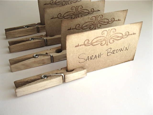 Place Cards - wedding place card, dinner party, entertaining - set of 12 clips…