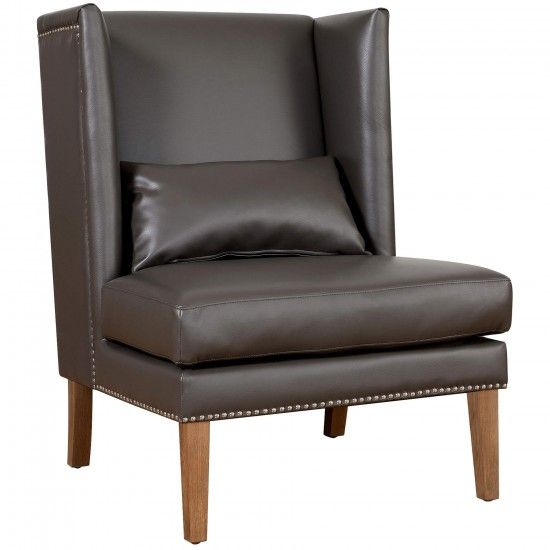 Chelsea Leather Wing Chair, Grey   Leather   Chairs   Furniture