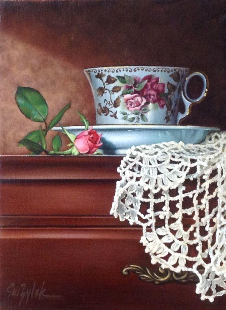 Чашка с кружевом | Сью Zylak Искусство