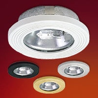 Shallow under cabinet mini-halogen fixture.    This new ultra-thin profile allows installation flush to cabinetry without the need to drill completely through the cabinet surface.   Includes an aluminum reflector inside a die cast housing with a decorative plastic outer ring.  Regular price: $25.25  Sale price: $17.75