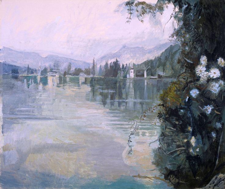 """Love lake (""""Szerelem tó"""") 60x50 cm oil painting on canvas"""