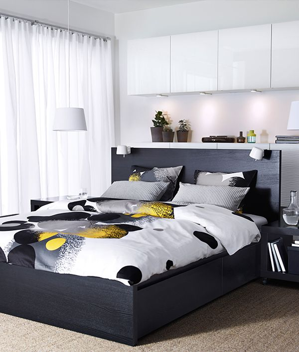 meer dan 1000 idee n over malm bett op pinterest bett eiche malm en dekbed. Black Bedroom Furniture Sets. Home Design Ideas