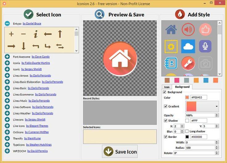 Iconion es un software gratuito, para Windows y Mac, con el que cualquier persona sin conocimientos en diseño puede crear todo tipo de bellos iconos.