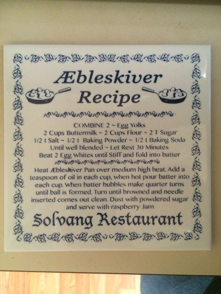 Aebleskiver Recipe