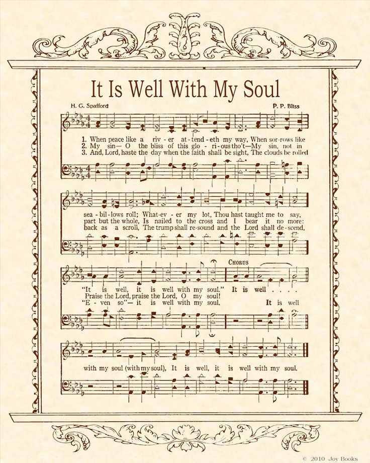 It is well with my soul: It Is Well, Quotes Inspiration Books, Books Movies Music, Favorite Songs, Soul, River Attendeth, Sheet Music, Favorite Hymns, Absolute Favorite