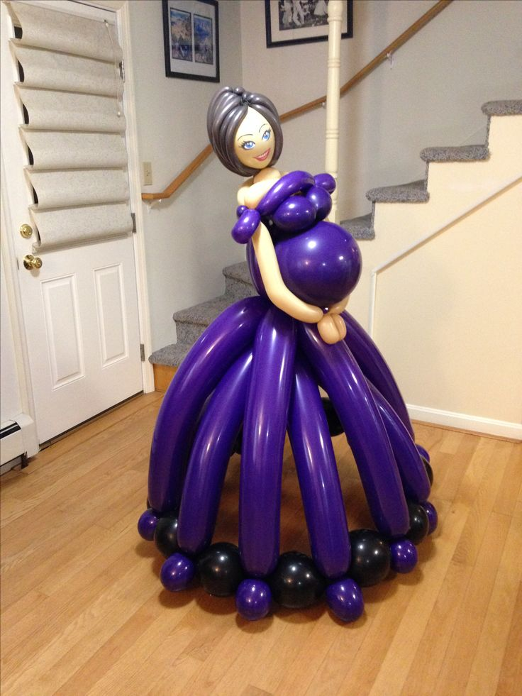 Abby London's pregnant lady balloon, life size version
